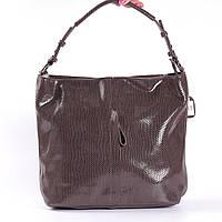 "Женская кожаная сумка коричневая ""Лазерка Dark Brown"", фото 1"