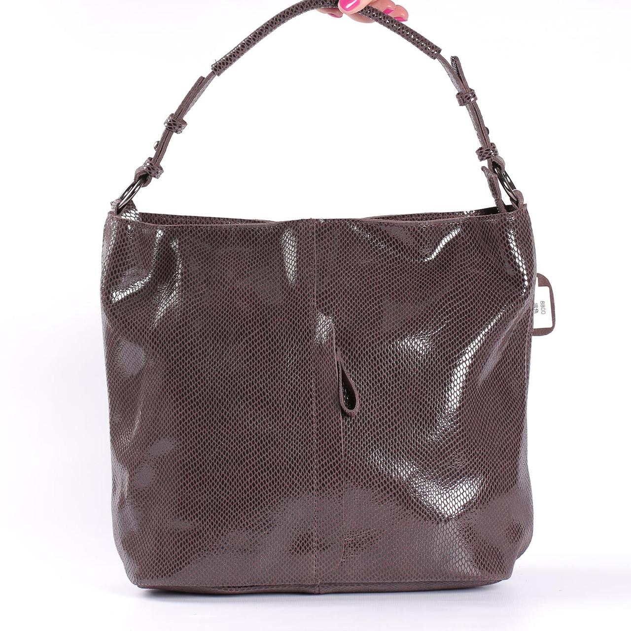 """Женская кожаная сумка коричневая """"Лазерка Dark Brown"""""""