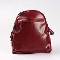 """Женский кожаный рюкзак на 2 отделения бордового цвета """"Карина Red"""", фото 1"""