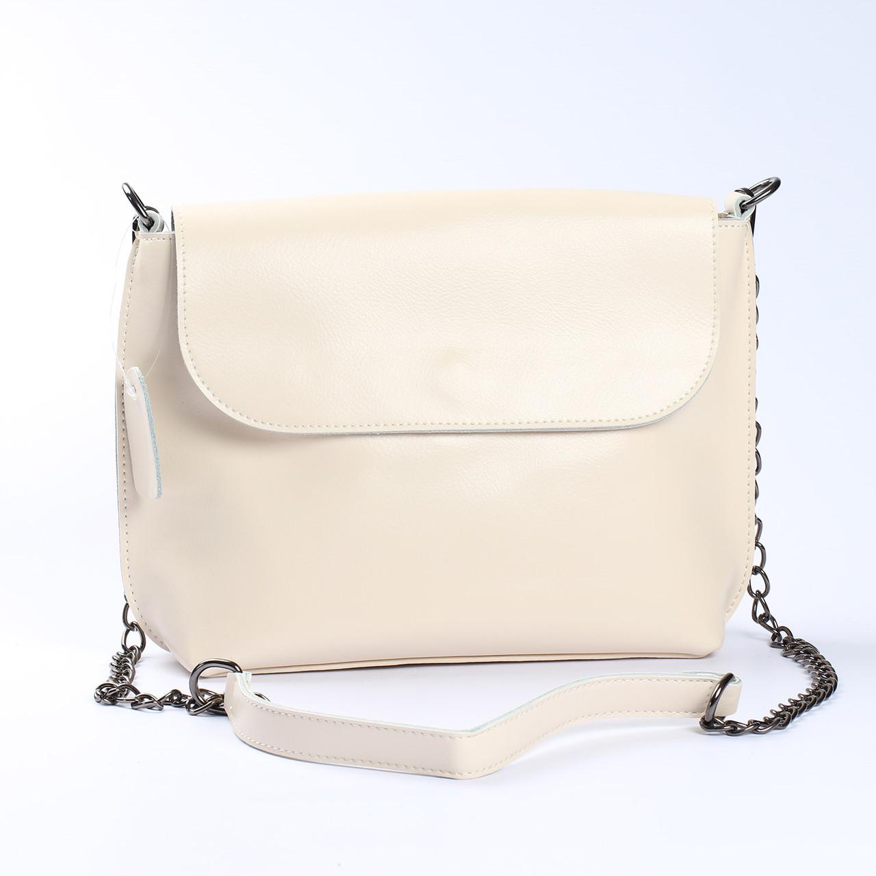 """Женская сумка через плечо из натуральной кожи   """"Патрисия White"""""""