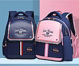 Рюкзак детский школьный ортопедический с пеналом для мальчика первоклассника 7 - 8 - 9 лет, ранец портфель, фото 4