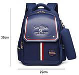 Рюкзак детский школьный ортопедический с пеналом для мальчика первоклассника 7 - 8 - 9 лет, ранец портфель, фото 10