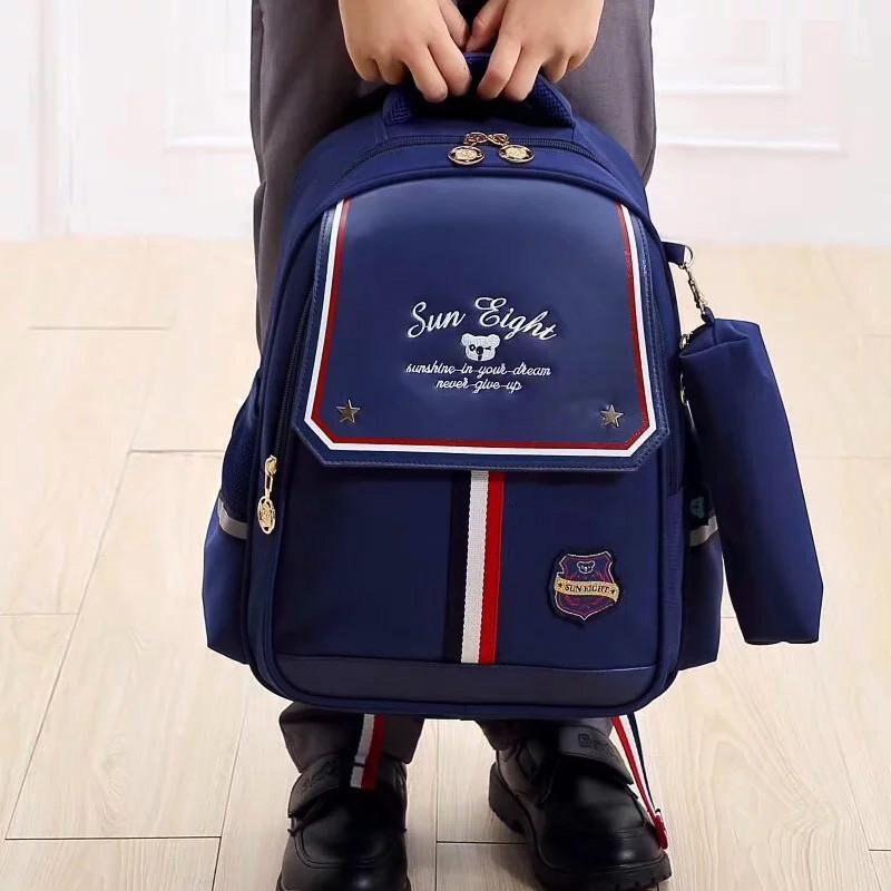 Рюкзак детский школьный ортопедический с пеналом для мальчика первоклассника 7 - 8 - 9 лет, ранец портфель