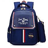 Рюкзак детский школьный ортопедический с пеналом для мальчика первоклассника 7 - 8 - 9 лет, ранец портфель, фото 2