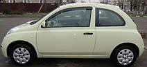 Вітровики Ніссан Мікра | Дефлектори вікон Nissan Micra 3d (K12) 2003