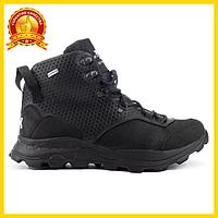 Ботинки мужские зимние из натуральной кожи, модные на шнуровке, черные