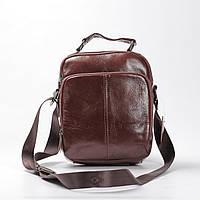 """Мужская кожаная сумка """"Ливерпуль Brown"""", фото 1"""
