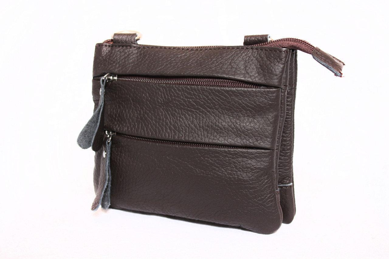 """Кожаная мужская сумка """"Джастин Brown"""""""