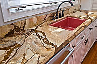Кухонная столешница из мрамора Тейк Вуд (Teyk Wood), фото 1