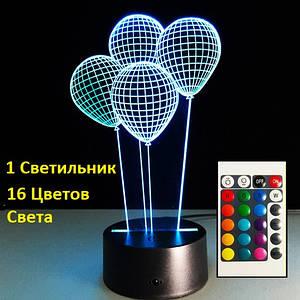 Детские настольные лампы, Воздушные шарики, Светильник 3D Оригинальные подарки детям