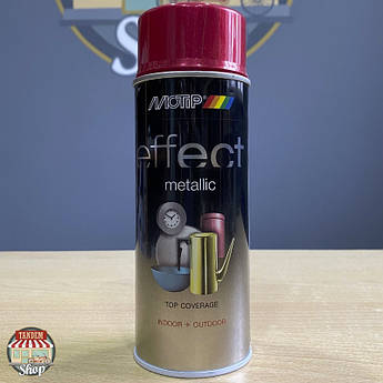 Краска (эмаль) с эффектом металлик Motip Deco Effect Metallic, 400 мл Аэрозоль Красный