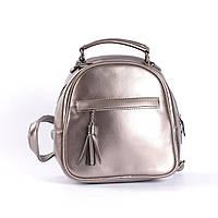 """Кожаный рюкзак-сумка (трансформер) мини """"Калисто Bronze"""", фото 1"""