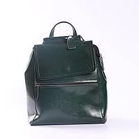 """Женский кожаный рюкзак-сумка(трансформер) """"Жозефина Green"""", фото 1"""