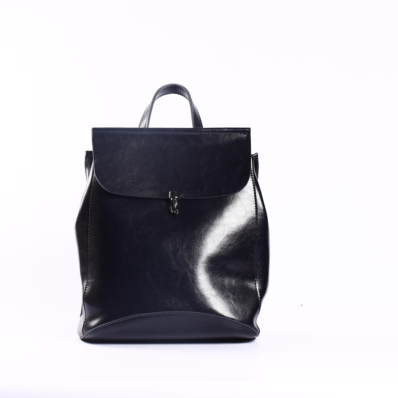 """Темно-синий кожаный рюкзак-трансформер """"Кристи Dark Blue"""""""