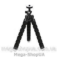 Гибкий мини штатив трипод тринога осьминог настольный для телефона смартфона камеры JU98W Черный