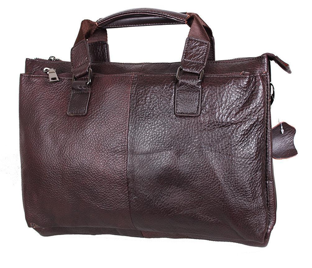 """Кожаный мужской портфель коричневый """"Джон"""""""