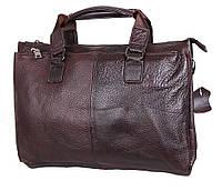"""Кожаный мужской портфель коричневый """"Джон"""", фото 1"""