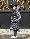 Пуховик - Мужской пуховик двусторонний длинный, фото 8