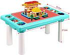 Детский игровой столик с конструктором 300 деталей,  Столик с песочницей 2 в 1 Study Table, фото 3