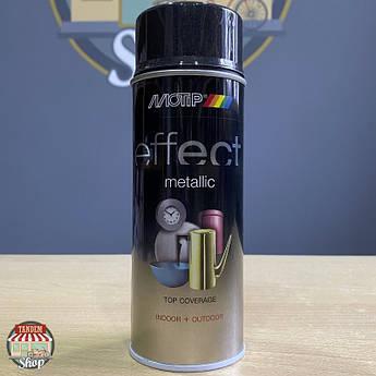 Краска (эмаль) с эффектом металлик Motip Deco Effect Metallic, 400 мл Аэрозоль Черный