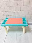 Детский игровой столик с конструктором 300 деталей,  Столик с песочницей 2 в 1 Study Table, фото 4