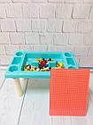 Детский игровой столик с конструктором 300 деталей,  Столик с песочницей 2 в 1 Study Table, фото 5