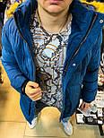 Пуховик - Мужской пуховик синяя MONCLER, фото 3