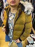 Куртка - Мужскоая куртка MONCLER горчичная, фото 2