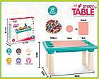 Детский игровой столик с конструктором 300 деталей,  Столик с песочницей 2 в 1 Study Table, фото 8