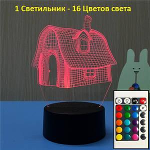 Настольная ночная лампа, Домик, Светильник 3D, Идеи Подарков на Новый Год, Оригинальные подарки