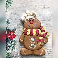 Имбирное печенья новый год Праздничное