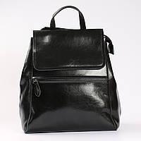 """Женский кожаный рюкзак-сумка(трансформер) черного цвета """"Жозефина Black"""", фото 1"""