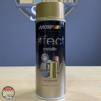 Краска (эмаль) с эффектом металлик Motip Deco Effect Metallic, 400 мл Аэрозоль Золотистый бриллиант