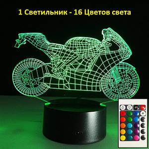 Светильник мотоцикл, Светильники для детской, Подарок для детей мальчиков, 3D Led Светильники