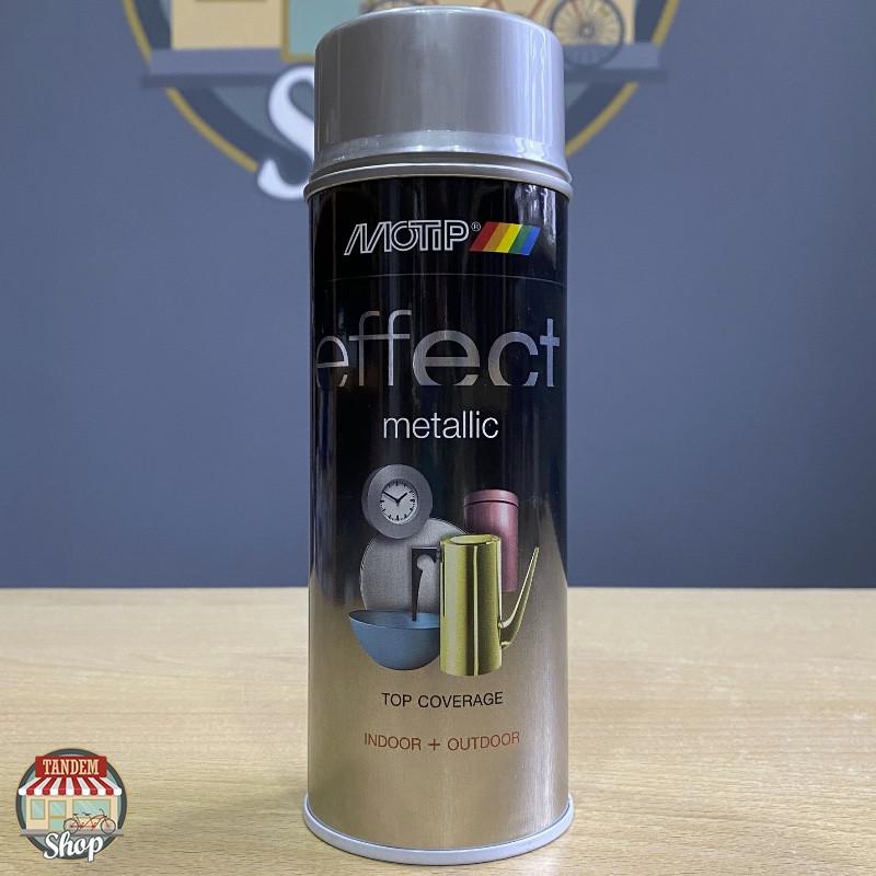 Эмаль с эффектом металлик Motip Deco Effect Metallic, 400 мл Аэрозоль Сверкающий серебристый
