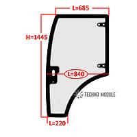 Стекло двери левой ДТЗ 5504К (h=1445, L=685x840x220)