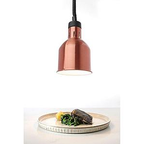 Цилиндрическая лампа для подогрева блюд с регулируемой высотой ø175x(H)250 мм. 230V / 250W медный Hendi