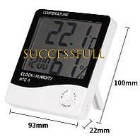 Термометр-гигрометр-часы HTC-1, фото 1