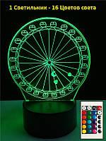 Настольный светильник, Колесо обозрения, Светильник 3D, Подарки к новому году оригинальные