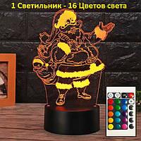 Светильник детский настольный, Санта Клаус, новогодний подарок для детей, Подарок к новому году