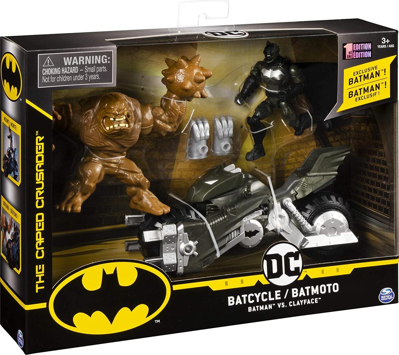 Набор Бэтман с мотоциклом Batman Batcycle Batman vs Clayface Оригинал из США