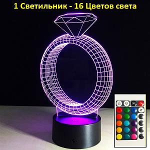 Настольные лампы и ночники, Кольцо, 3D Led Светильники, Прикольный подарок для девушки