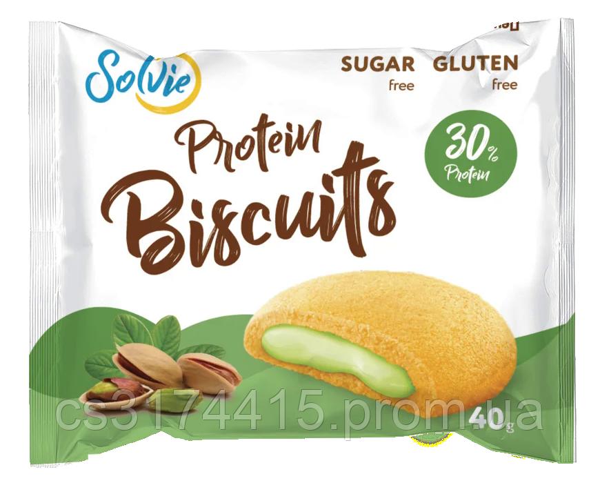 Протеїновий бісквіт Solvie Фісташка (40 грам)