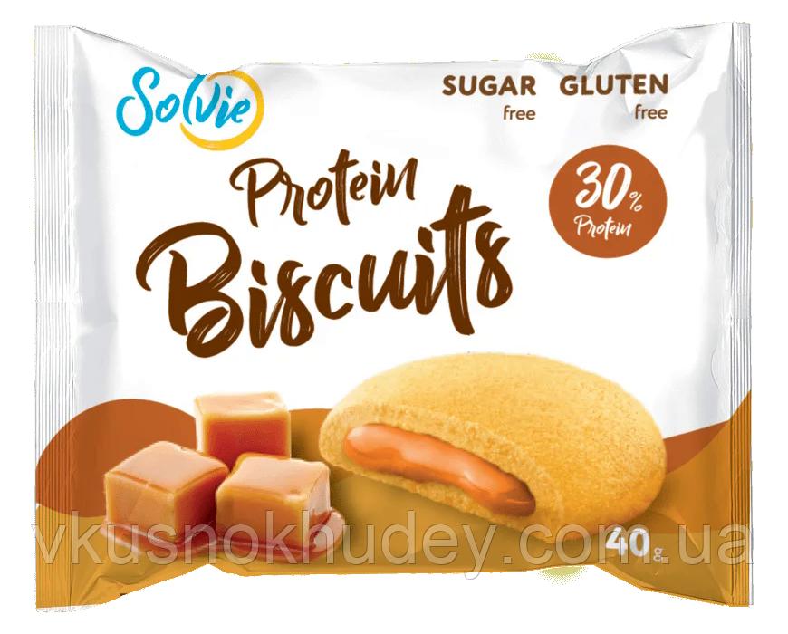 Протеиновый бисквит Solvie Карамель  (40 грамм)