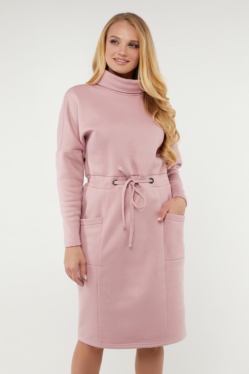 Платье Рая розовое 50