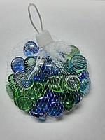 Камешки для аквариума таблетка прозрачная малая микс, 200 грамм