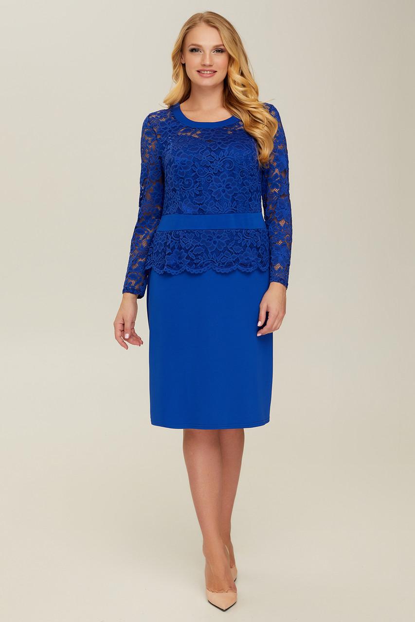 Платье синее Андора 60