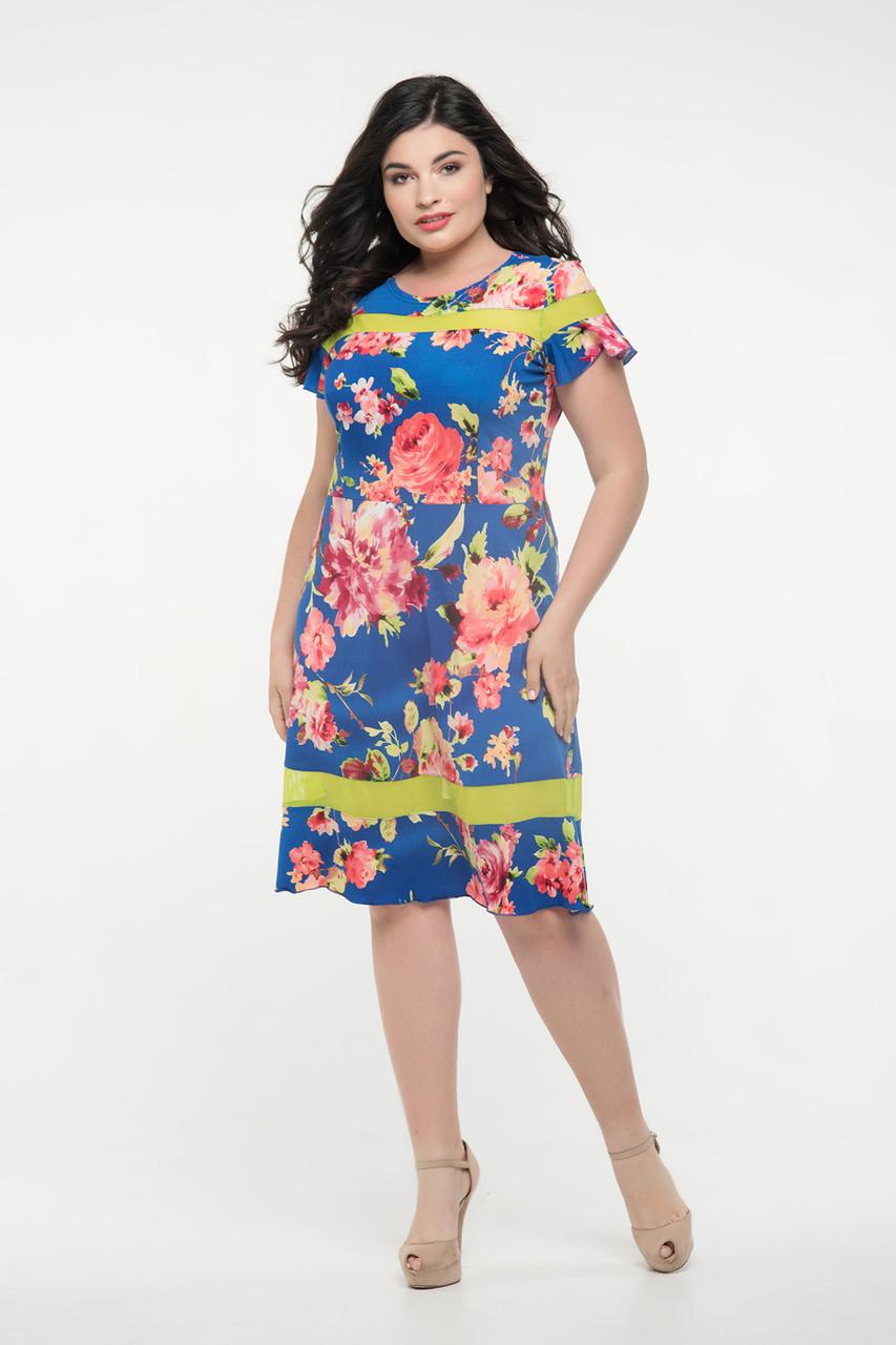 Платье синее Морика 50