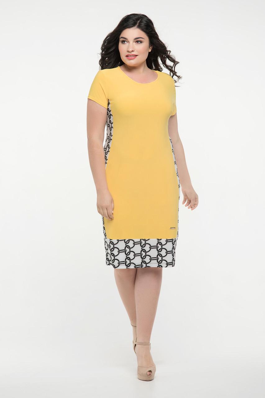 Платье жёлтое Анжела 50