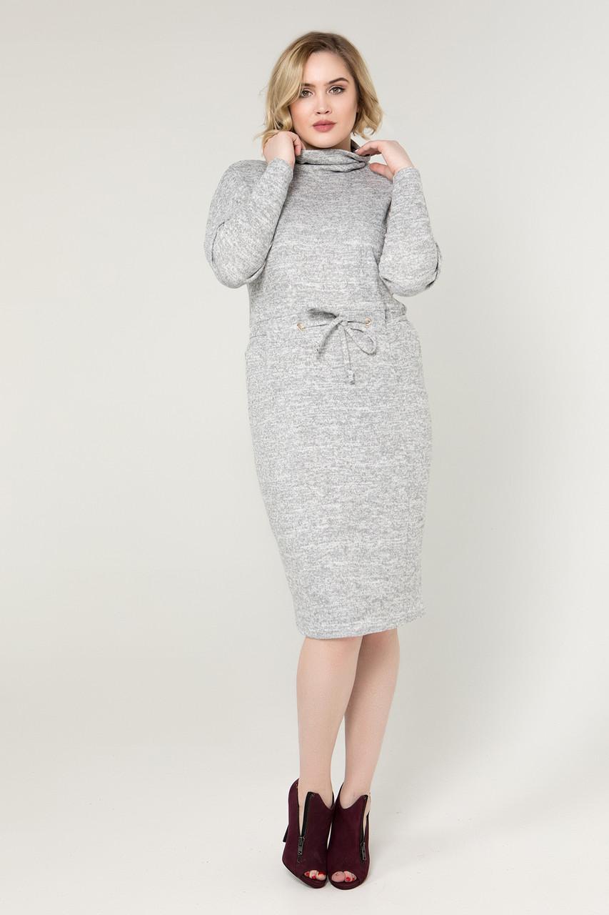 Платье серое Регина 58